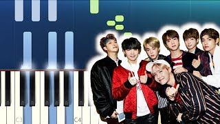BTS  - Make It Right ft Ed Sheeran (Piano Tutorial) (방탄소년단)
