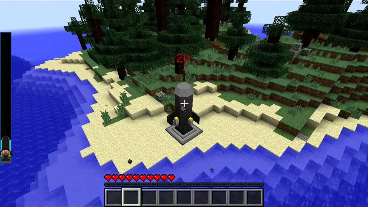 Скачать игру майнкрафт с модом на ракету