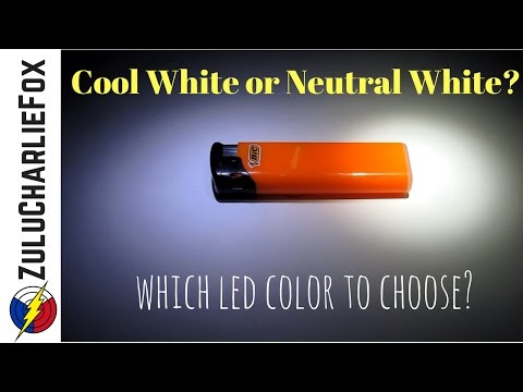 Cool White vs. Neutral White (with different flashlights)