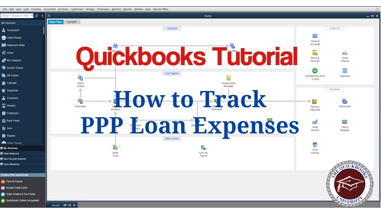 Quickbooks Tutorial How To Track Ppp Loan Expenses Youtube