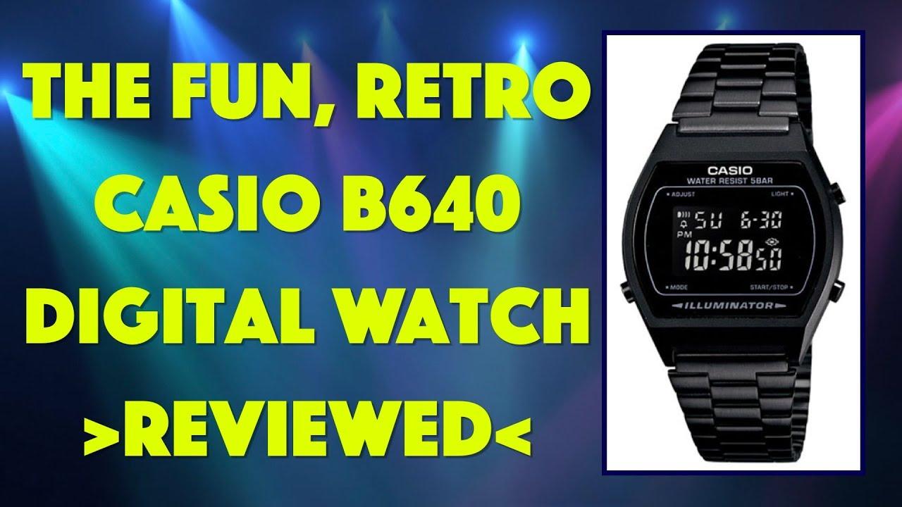 The Fun Vintage Casio B640 Digital Watch -- REVIEWED - YouTube 4e46b207650