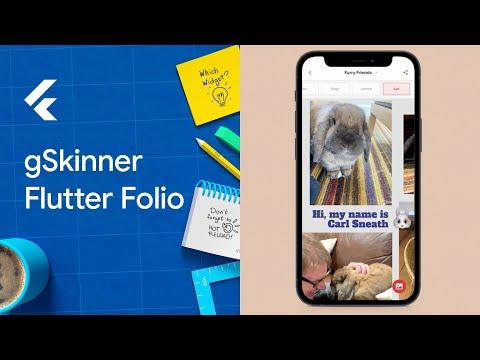 gSkinner Flutter Folio Multiplatform demo