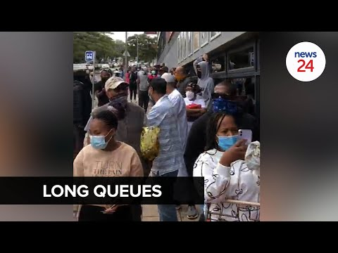 WATCH   #ZumaUnrest: People in Durban queue to buy food at shops spared from violent riots