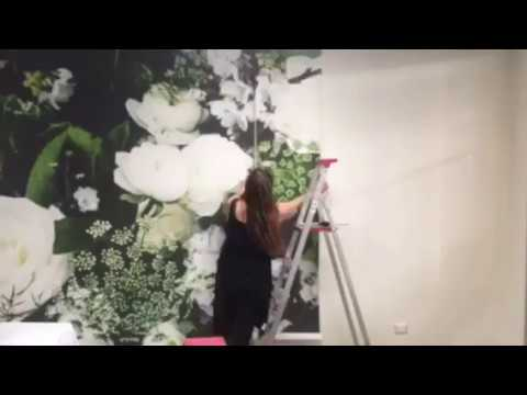 Removable wallpaper installation with The Wall Sticker Company