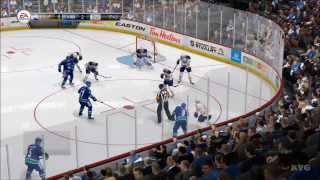 NHL 14 - Vancouver Canucks vs. Buffalo Sabres Gameplay [HD]