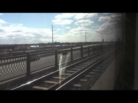 METRO Blue Line Light Rail Target Field Station to Mall of America Station Full Ride 4/11/16 HD