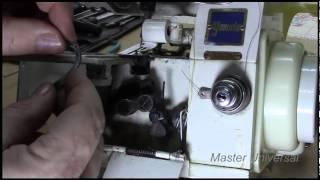 Yamata FN 10-4D. Как правильно поставить петлители в оверлок. Видео №49.(Делаем свободный доступ к петлителям. Снимаем петлители. Проверяем петлители на заусеницы и правильно..., 2015-01-31T21:08:45.000Z)