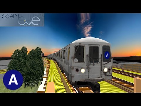 OpenBVE: R44 A Train to Lefferts Blvd | 8th Ave / Fulton Express