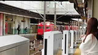 名鉄6000系6030F急行一宮行金山1番線発車