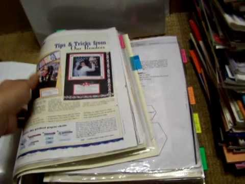 "How i organized 15 years worth of scrapbook magazine ideas in a very small area "")"