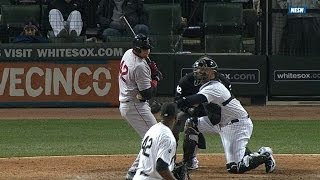 Pierzynski catches ball while batting
