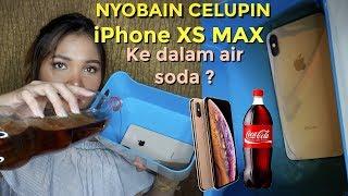 23 Juta.. TEST CELUPIN IPHONE XS MAX KE AIR SODA!/PUT IPHONE XS MAX TO SODA WATER! | Dinda Shafay