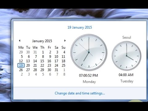 Date & Time Settings In Windows 7