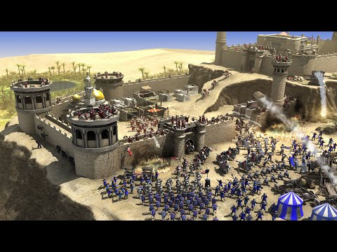 Let&39;s Play Stronghold Crusader 2 - Scharmützel Züge German 1