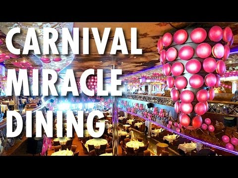 Carnival Miracle Tour & Review: Dining ~ Carnival Cruise Line ~ Cruise Ship Tour & Review