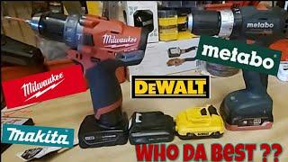 Milwaukee DewaltMakita And Metabo 12v Platforms...Pros n Cons