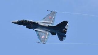 航空自衛隊 大滝根山分屯基地 開庁祭 創設62周年 F-2展示飛行 2018年