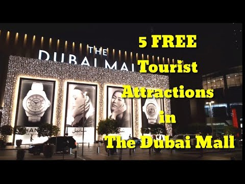 5 Free Tourist Attractions in The Dubai Mall