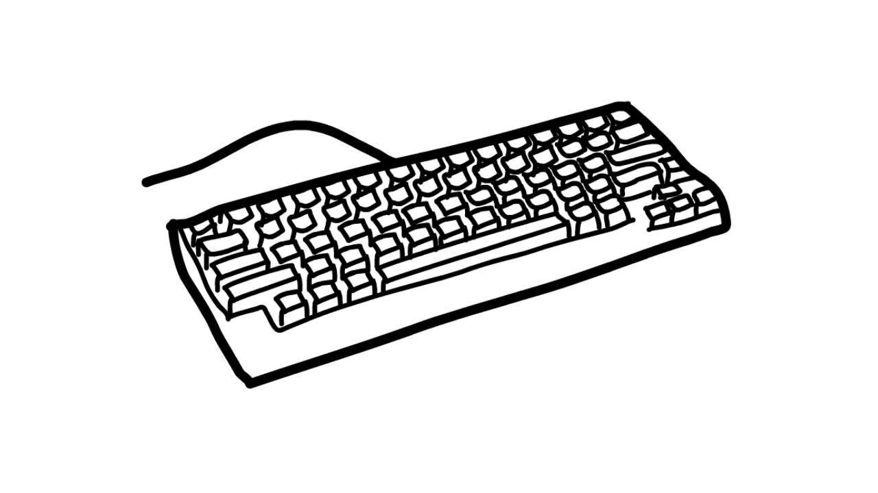 How To Draw A Keyboard Youtube