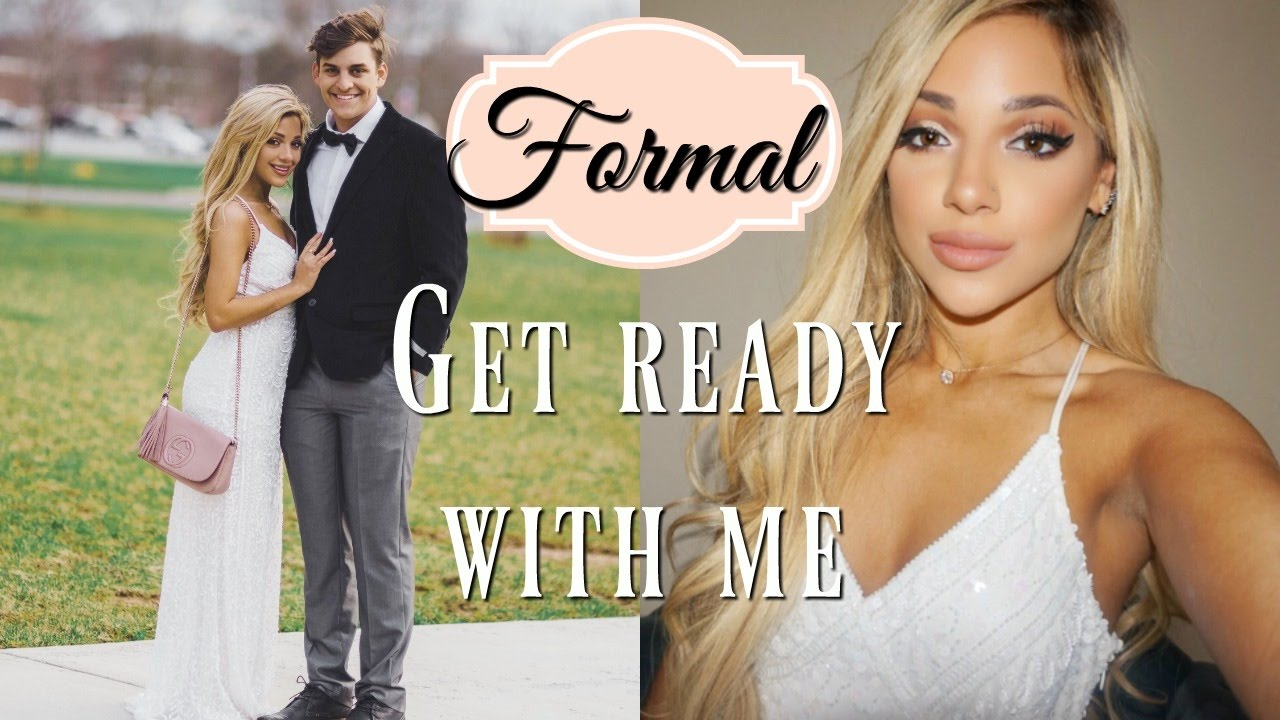 Get prom ready with me hair makeup dress - Get Ready With Me For Formal 2017 Makeup Hair Dress