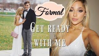 get ready with me for formal 2017! makeup, hair, + dress!