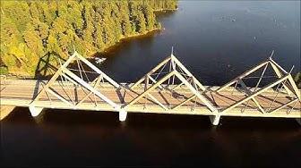 Vihantasalmi Bridge - The largest (by surface area) wooden bridge in the world