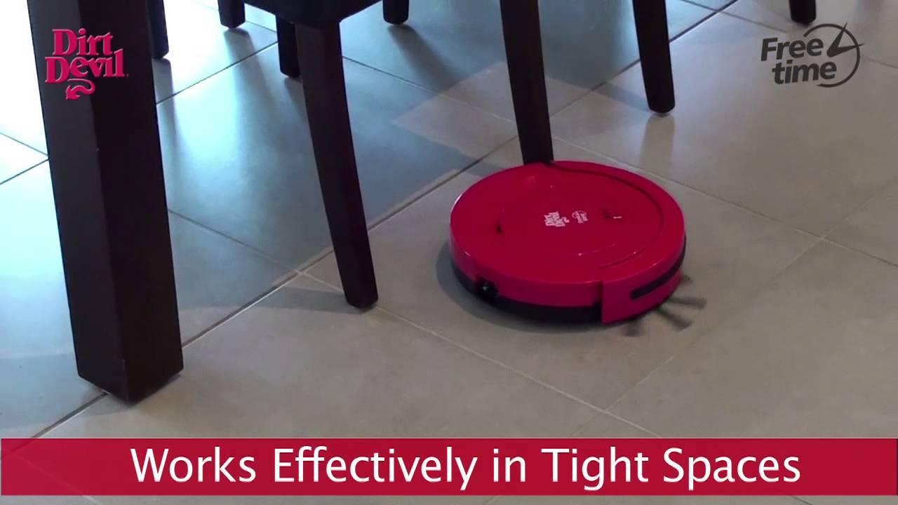 Hardwood Floor Sweeper Vacuum Part - 48: Devil - Free Time Robotic Hard Floor Sweeper - YouTube