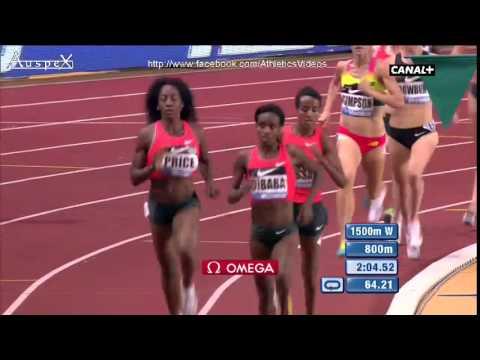 Genzebe Dibaba 1500m WR 3.50.07 Monaco 2015