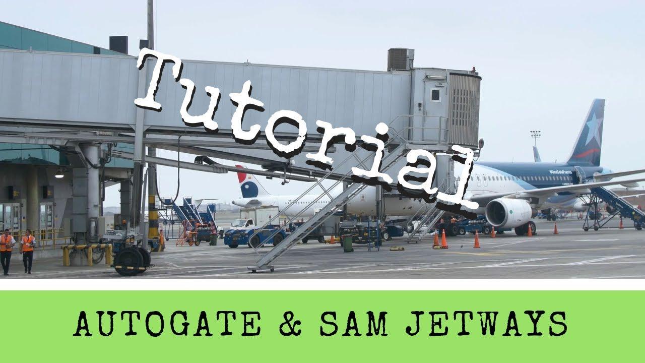 X-Plane 11 - Tutorial: Adding Autogate or SAM Jetways