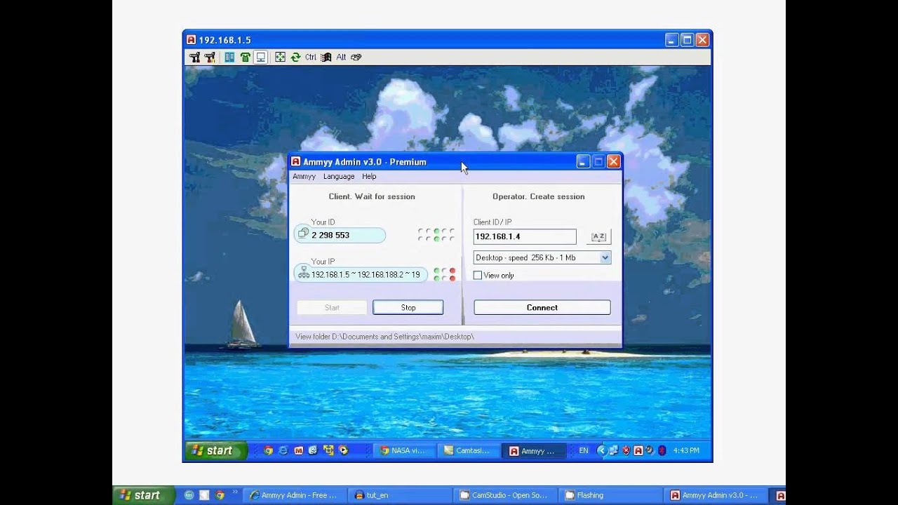 Remote desktop access software Ammyy Admin.mp4 - YouTube