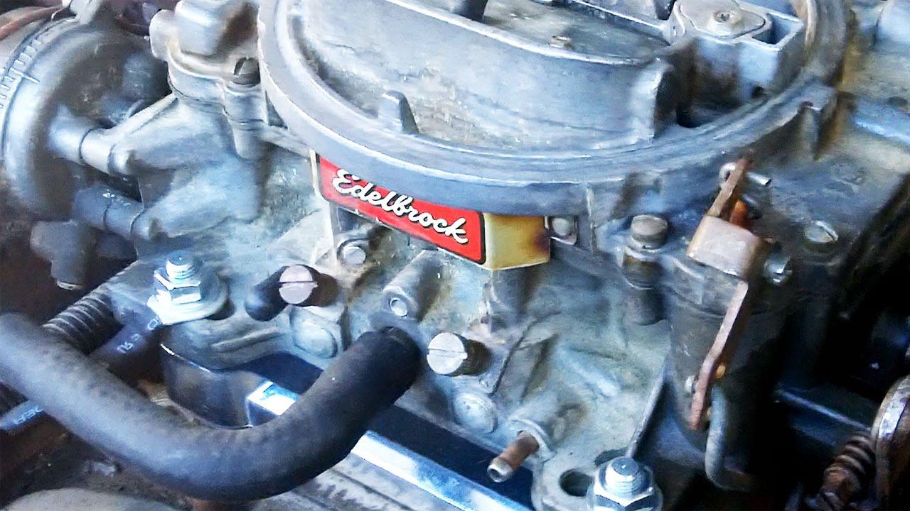 The Quadrajet to Edelbrock carburetor swap  step by step  YouTube