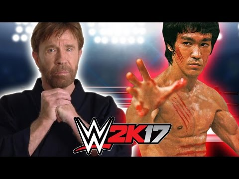 BRUCE LEE VS CHUCK NORRIS | WWE 2K17