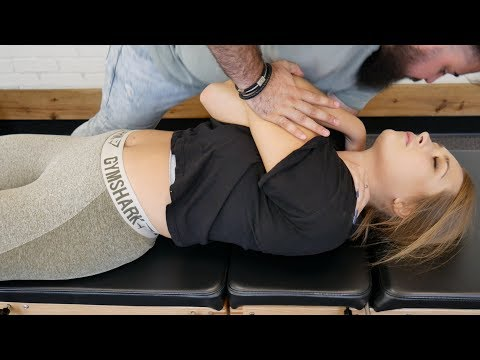*FIRST TIME* Chiropractic CRACKING On Female Athlete