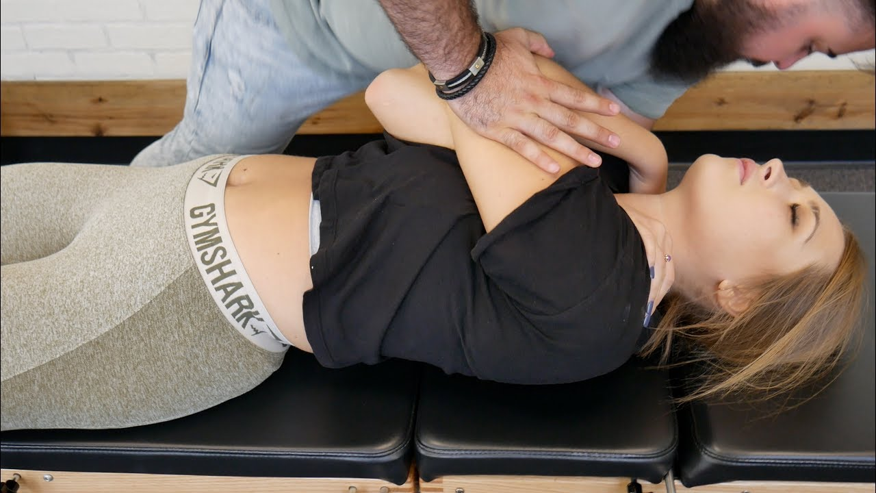 Download *FIRST TIME* Chiropractic CRACKING on Female Athlete