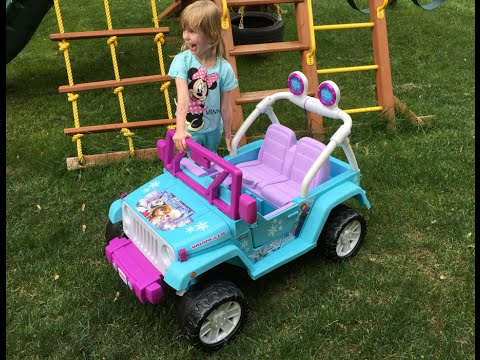 Disney Frozen Jeep Wrangler Assembly ♥♥♥ How To Build Fisher Price Disney Frozen Jeep