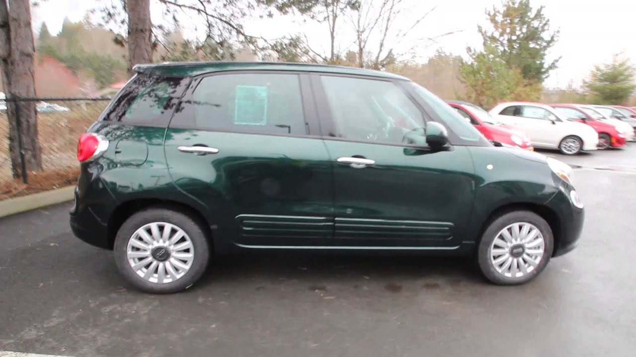 2014 fiat 500l easy forest green ez014590 redmond. Black Bedroom Furniture Sets. Home Design Ideas
