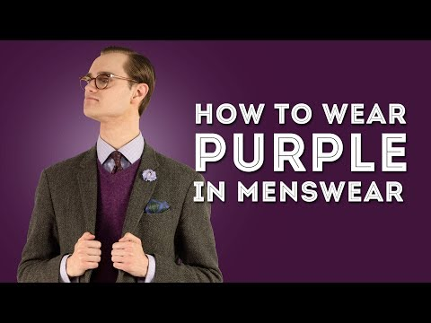 How To Wear Purple (Violet) in Menswear - Color Combination Tips