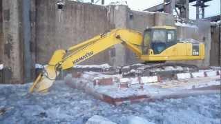 видео Роботы Brokk для демонтажа бетона – аренда, продажа, демонтажные работы