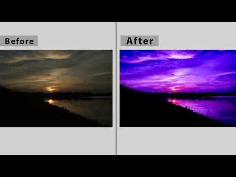 Purple sunset Landscape Photo Editing Tutorial - Lightroom 6 CC   How to Create STUNNING Sunset