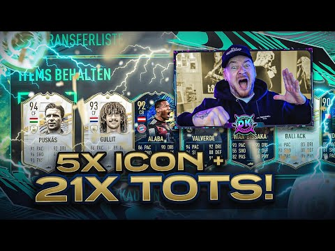 OMG! WIR ZIEHEN  21x TOTS + 5 Prime ICON Packs 🔥🔥 FIFA 21: Best Of Community TOTS Pack Opening