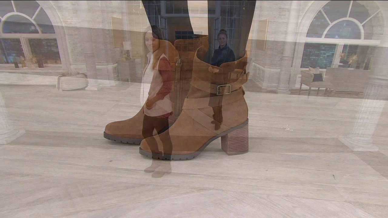 3c220741020 Clarks Artisan Suede Side Zip Boots - Malvet Doris on QVC