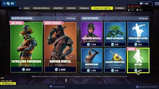 THE *NEW FORTNITE STORE* TODAY OCTOBER 29 NEW SKIN *PATRULLERO PARCHEED* AND NEW GESTO