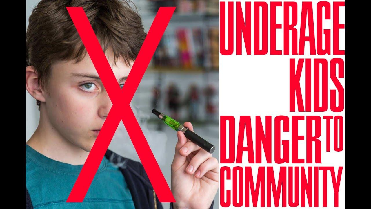 underage smoking Underage Vaping - Kids Doing Vape Reviews? No!