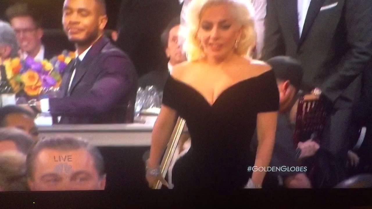 Rekacja DiCaprio na przechodzącą obok Lady Gagę