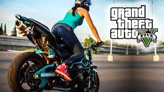 AWESOME GTA 5 STUNT MONTAGE! (GTA V Stunt Compilation)