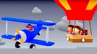 мультики для маленьких. Считаем с ПОЛОЙ цифра 3: Воздушный шар и САМОЛЕТ отважного пилота