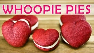 Red Velvet Whoopie Pies (heart Shaped) By Cookies Cupcakes And Cardio