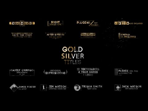 Golden Titles V.2 | After Effects Template