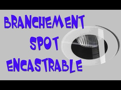 branchement spot encastrable youtube. Black Bedroom Furniture Sets. Home Design Ideas