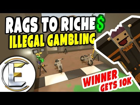 ILLEGAL GAMBLING | Unturned Roleplay Survival (Rags to Riches Reboot #44) Winner Gets 10k (RP)